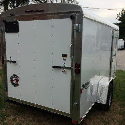 6X12CS White enclosed trailer