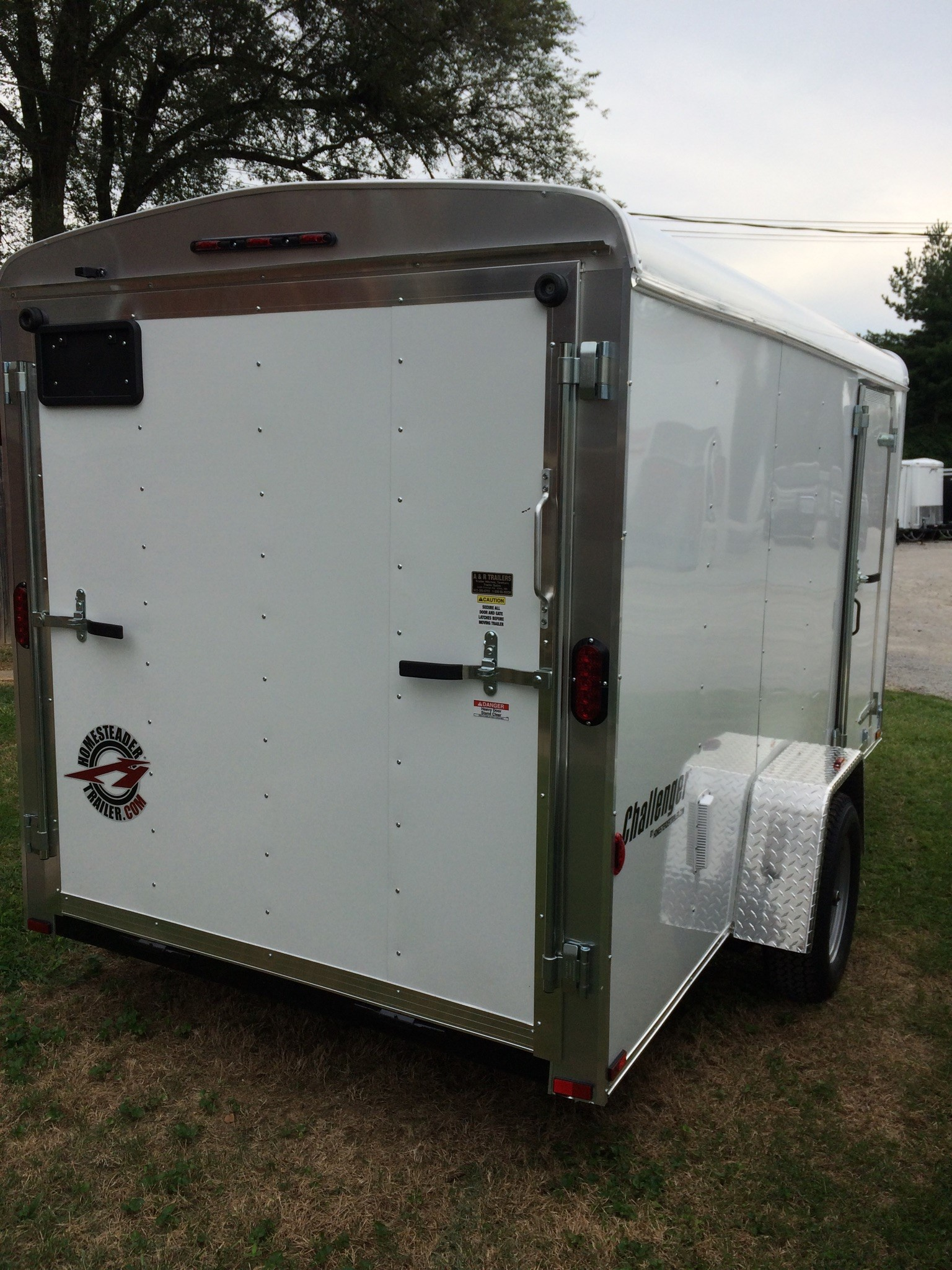6X12CS White enclosed trailer