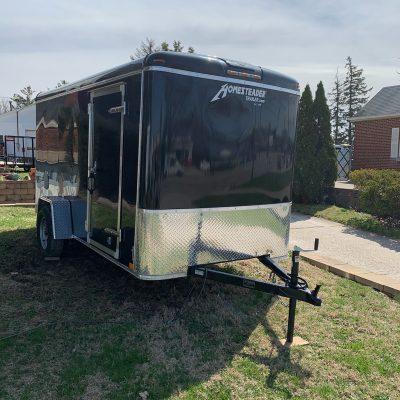 6X12CS Black Enclosed trailer