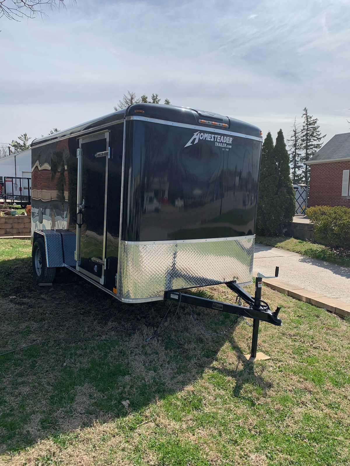 6X12CS Black Enclosed trailer