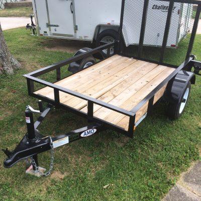 5X8 wood floor utility trailer