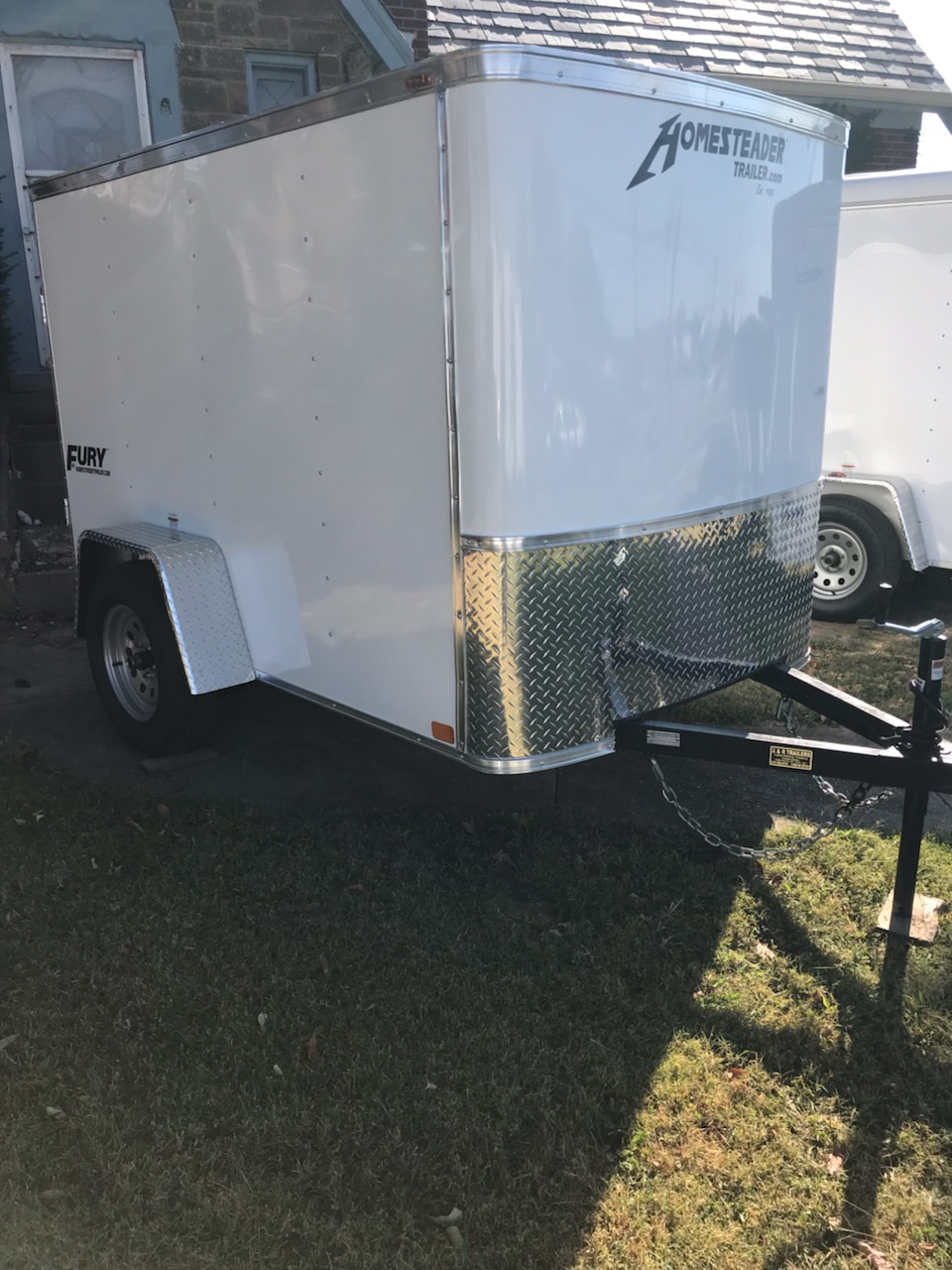 5X8 Fury Enclosed trailer