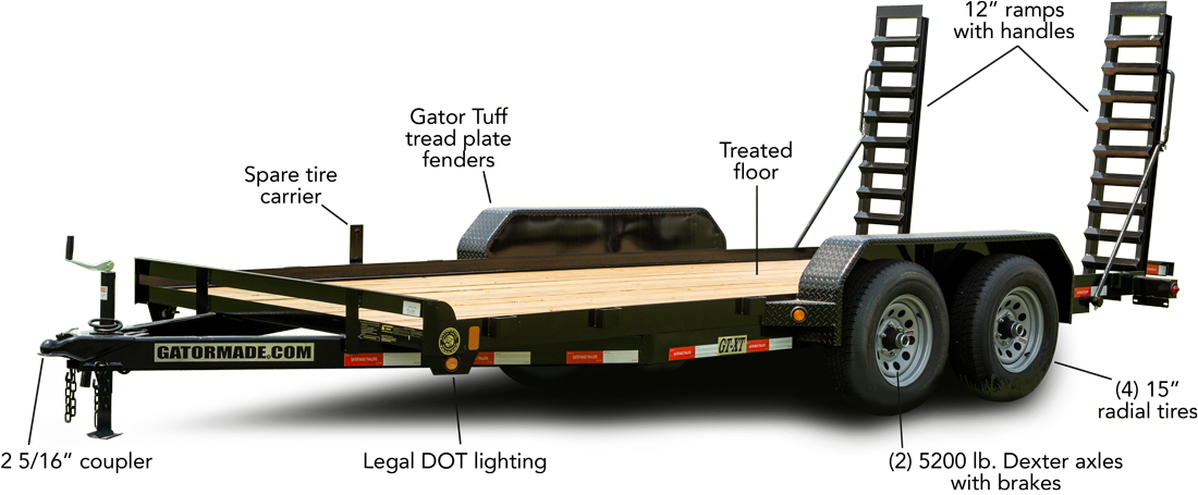 16' GT-XT 10,000LB equipment trailer